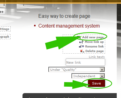 how to add new page in vbulletin