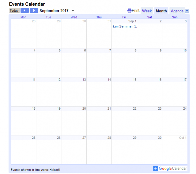 How to Embed Google Calendar